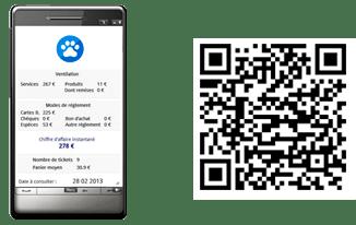 QR code mobile - le logiciel de gestion pour les professionnels et les salons de toilettage canin