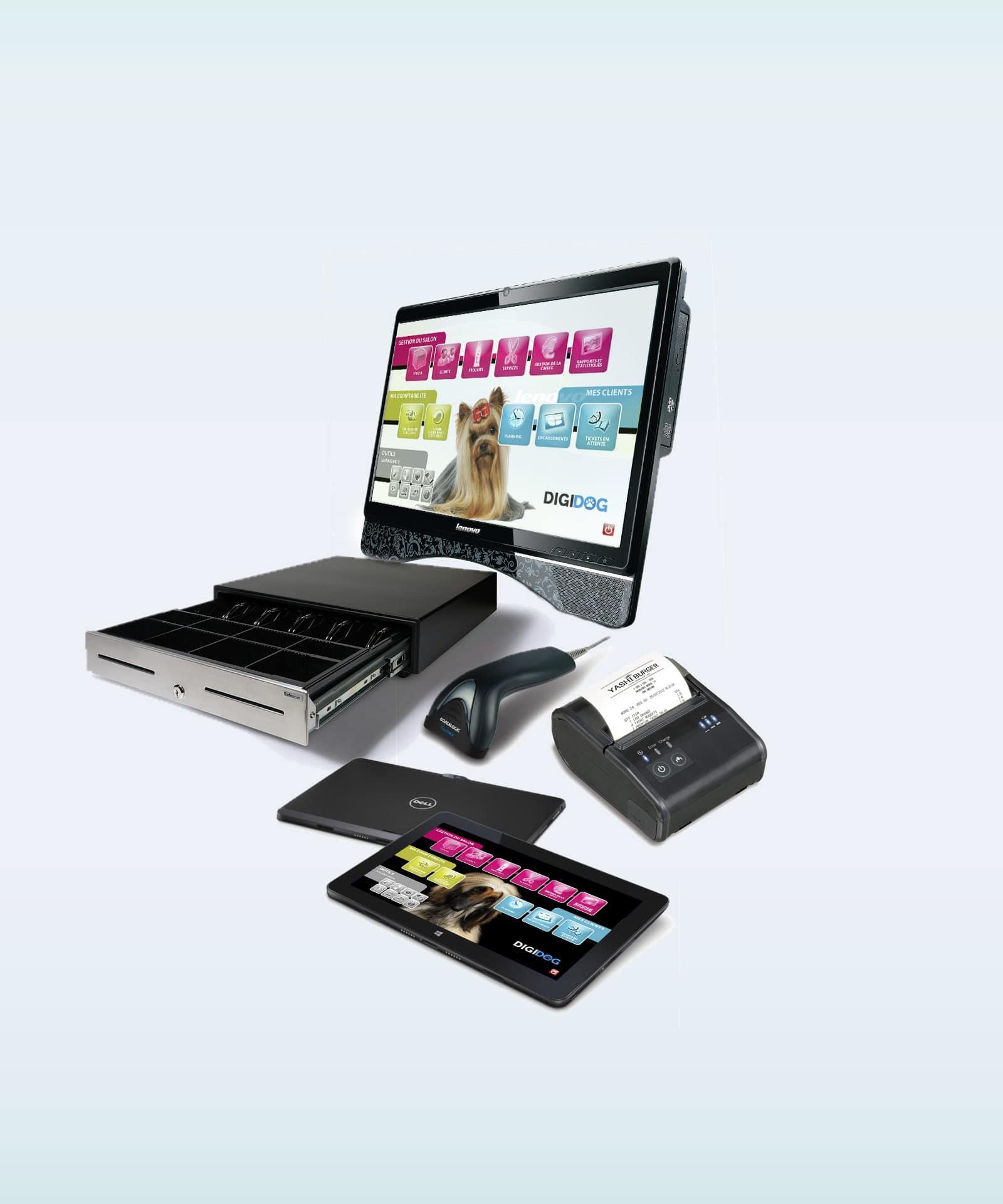 matériel informatique pour les professionnels et les salons de toilettage canin